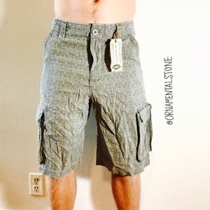 WRK MATERIALS CO RIPSTOP TEXTURED CARGO SHORT 0030